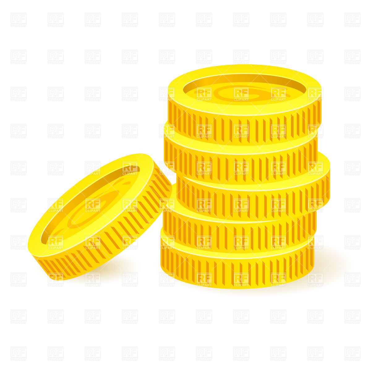 1200x1200 Pile Of Simple Golden Coins Vector Image Vector Artwork Of