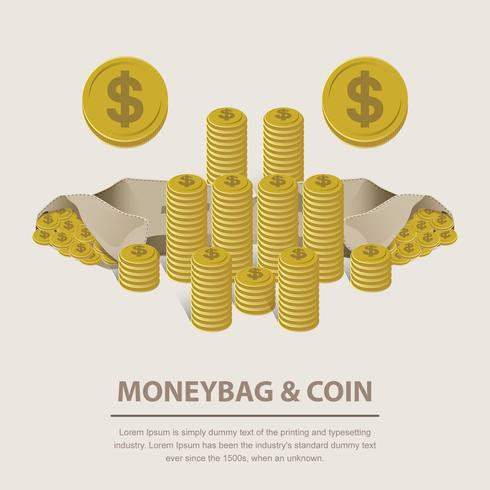 490x490 Sample Money Coin Vector Illustration Stock Images