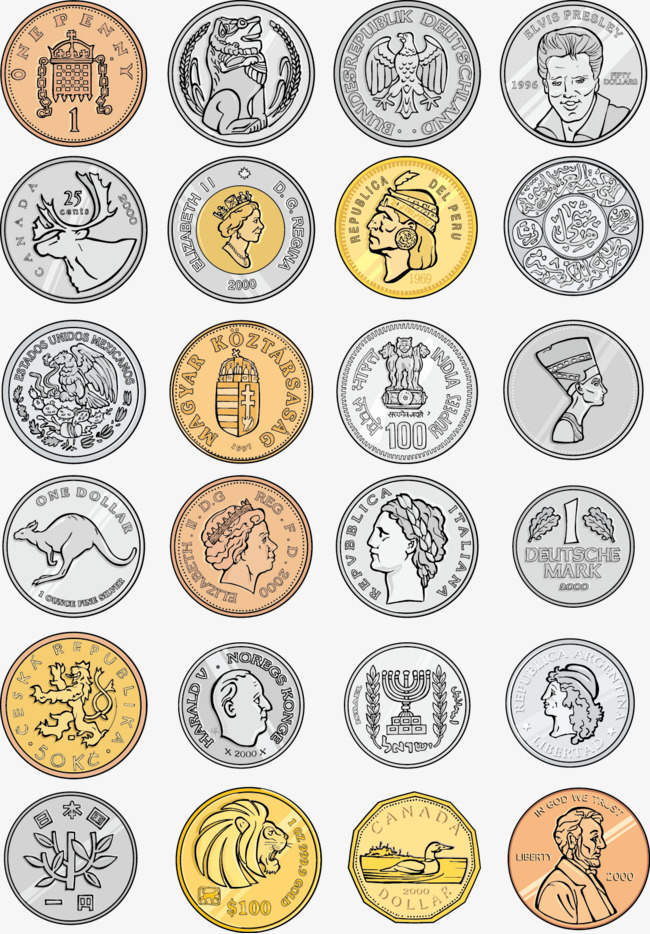 650x934 Vector Coins, Commemorative Coins, Coin, Vector Free Download Png
