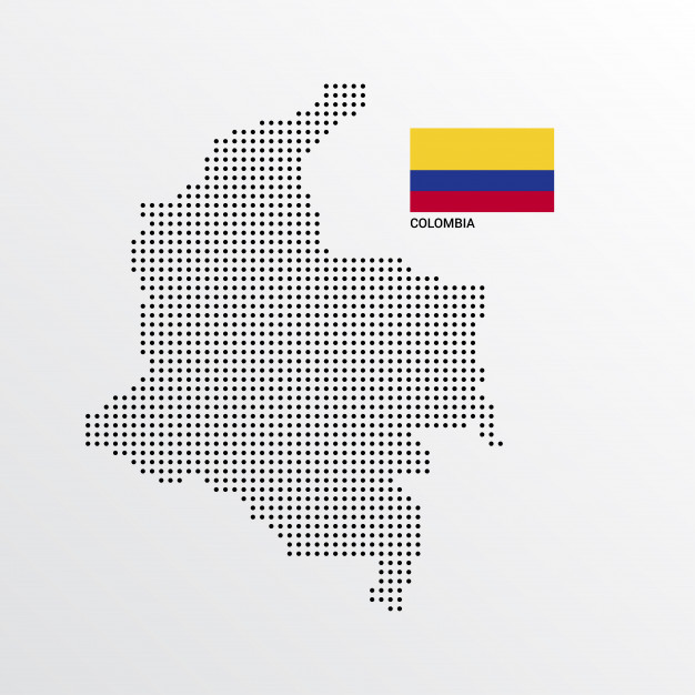 626x626 Colombia Map Design With Flag And Light Background Vector Vector