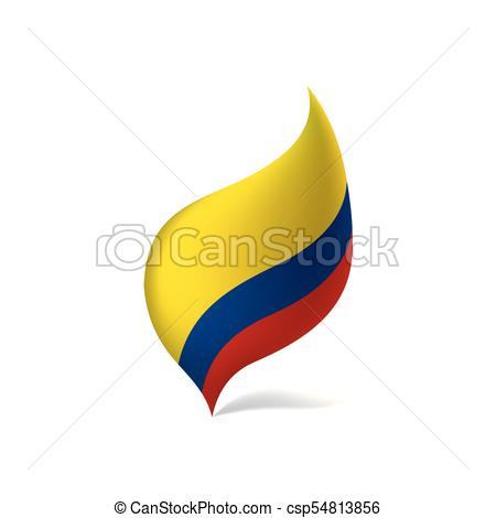 450x470 Colombia Flag, Vector Illustration On A White Background.
