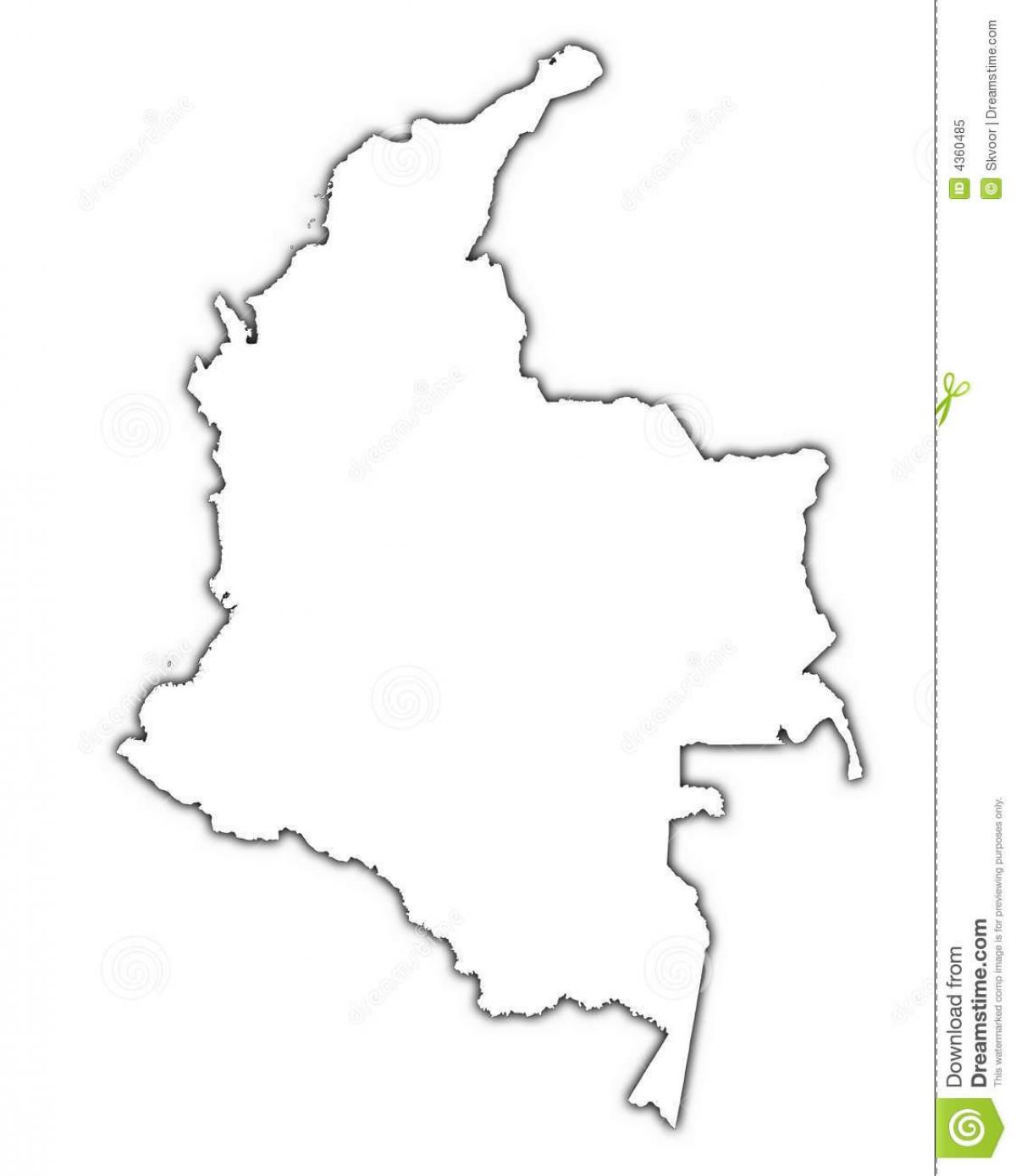1200x1389 Colombia Vector Map