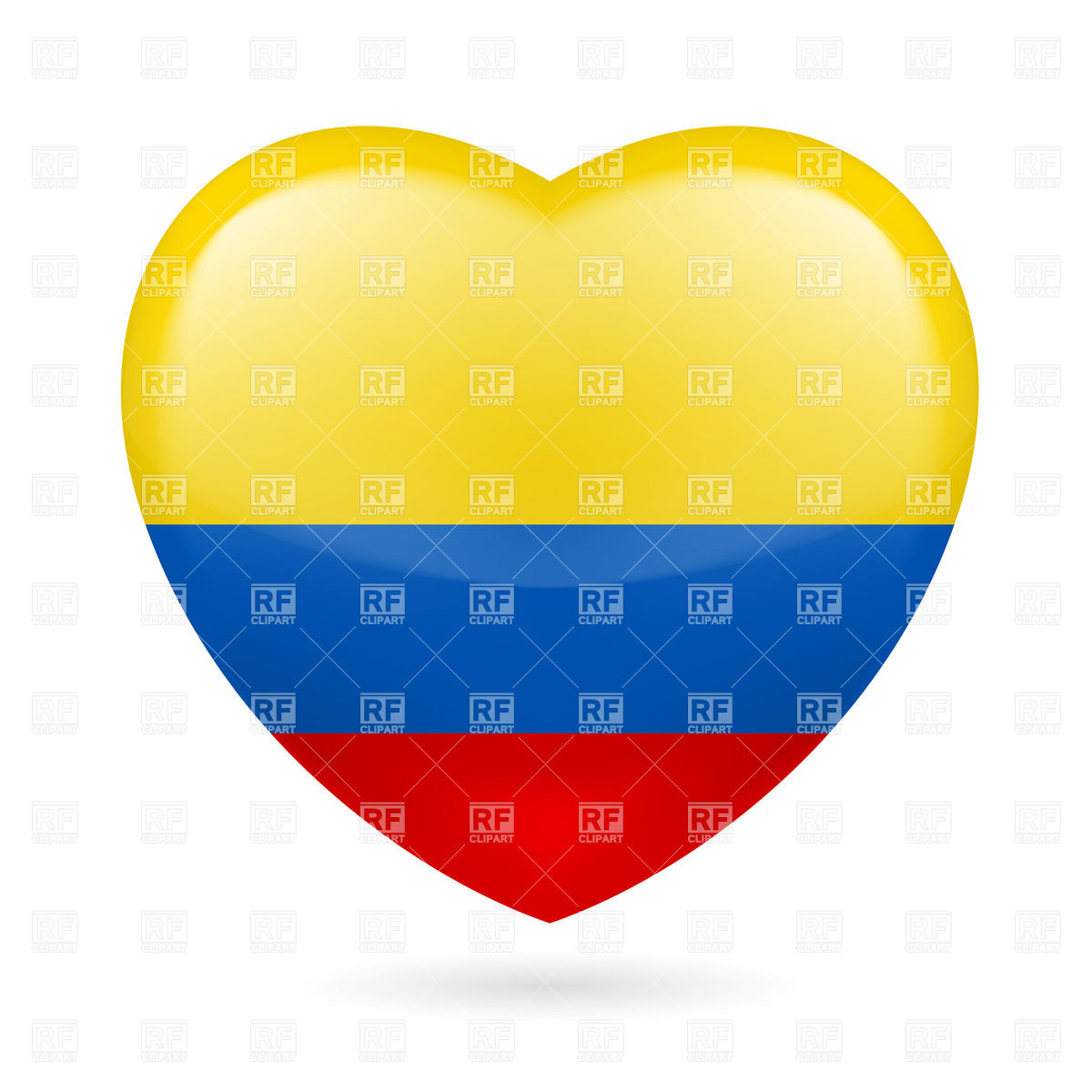 1200x1200 Heart With Colombian Flag Colors