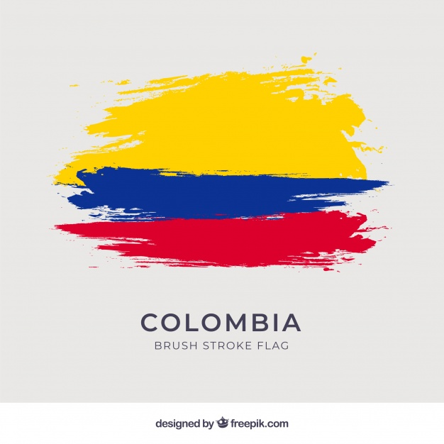 626x626 Brush Stroke Flag Of Columbia Vector Free Download