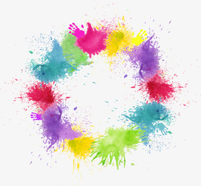 650x602 Vector Color Splashes, Ink Marks, Color, Dye Png And Vector For