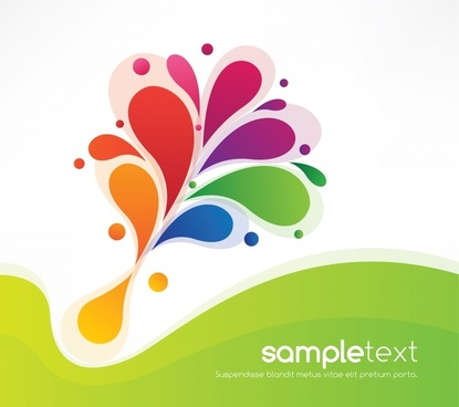 415x368 Vector Color Pattern Background Free Vector Download (65,521 Free