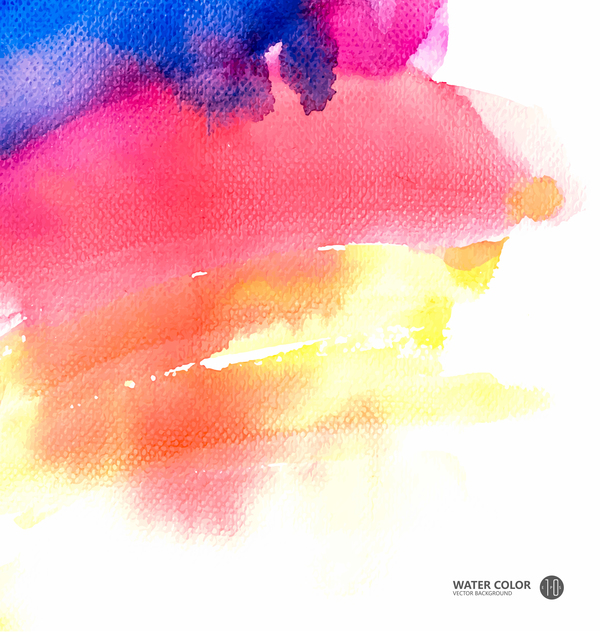 600x632 Water Color Paint Vector Background 01 Free Download