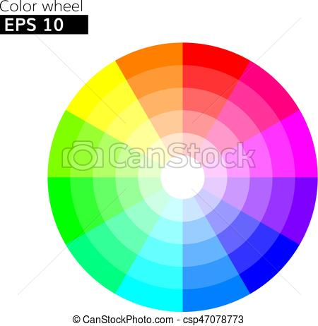 450x462 Color Wheel 12 Colors Vector With 20 Percent Step Color Circle