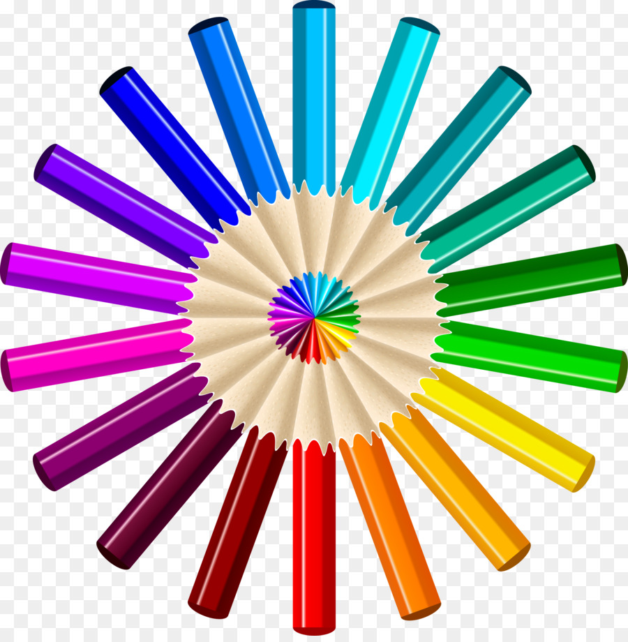 900x920 Color Wheel Pen Drawing