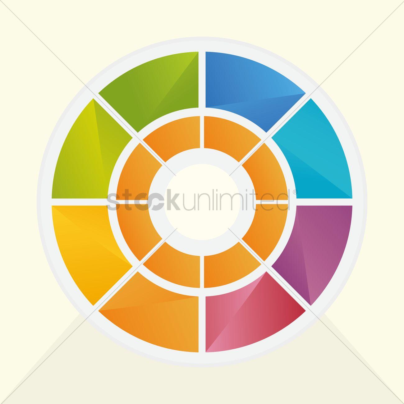 1300x1300 Color Wheel Vector Image