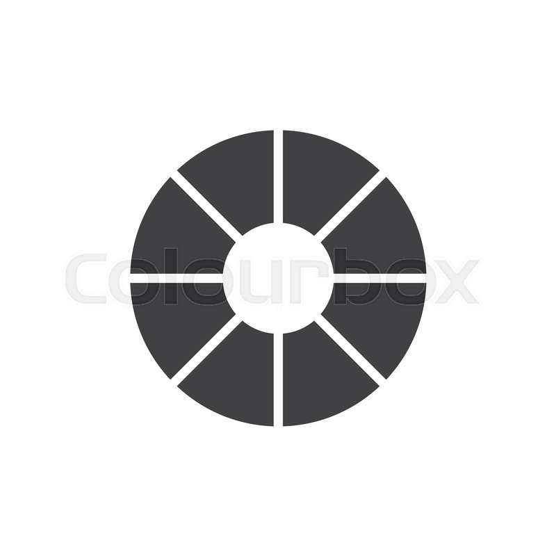 800x800 Color Wheel Vector Icon. Filled Flat Sign For Mobile Concept And