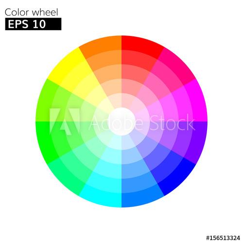500x500 Color Wheel Vector Illustration