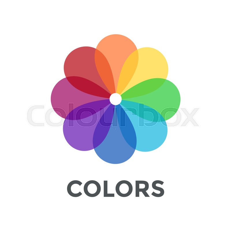 800x800 Digital Vector Color Wheel Spectrum Flowe Rainbow Circle, Flat