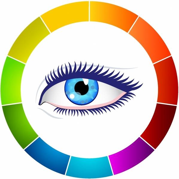 598x600 Eye And Color Wheel Free Vector In Adobe Illustrator Ai ( .ai
