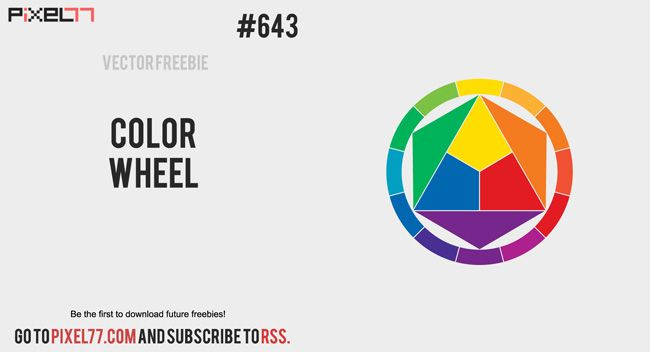 650x352 Free Vector Color Wheel (Pixel77) Color Theory