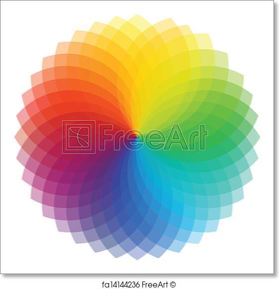561x581 Free Art Print Of Color Wheel Background. Vector Illustration