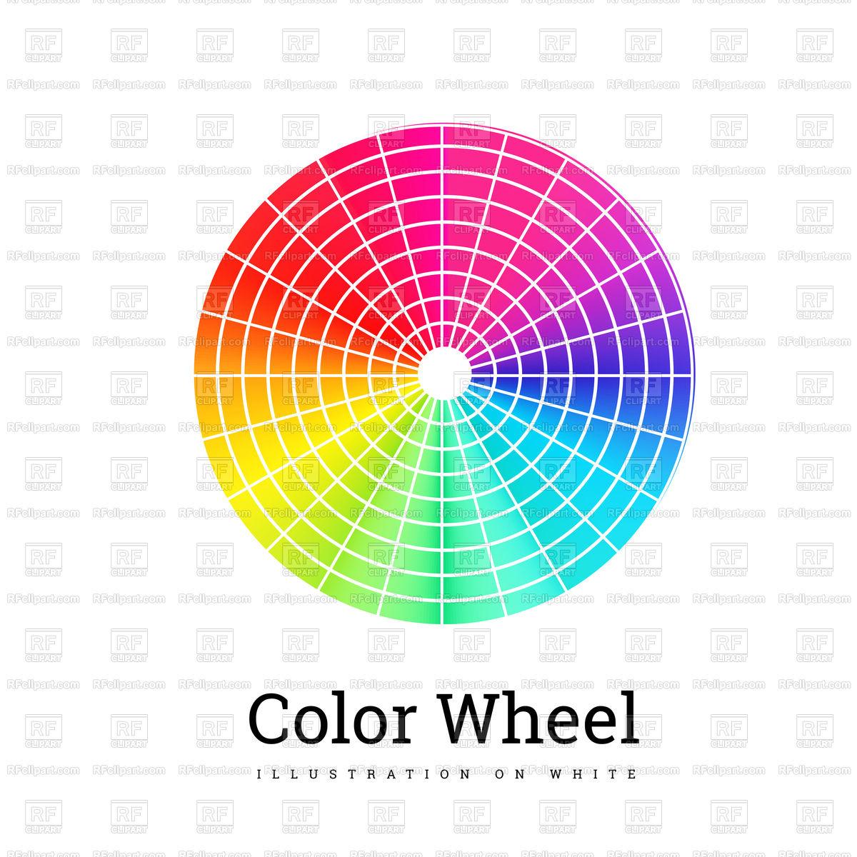 1200x1200 Color Wheel Vector Image Vector Artwork Of Backgrounds, Textures