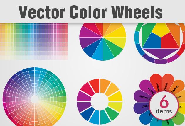 630x430 Color Wheel Vector Set