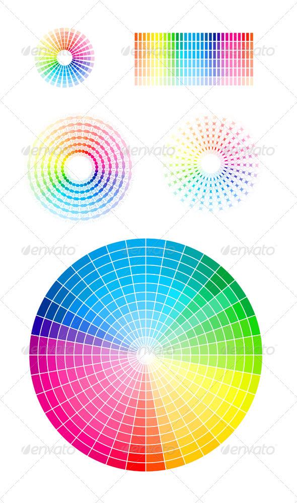590x999 Color Wheel Vector Set By Sermax55 Graphicriver