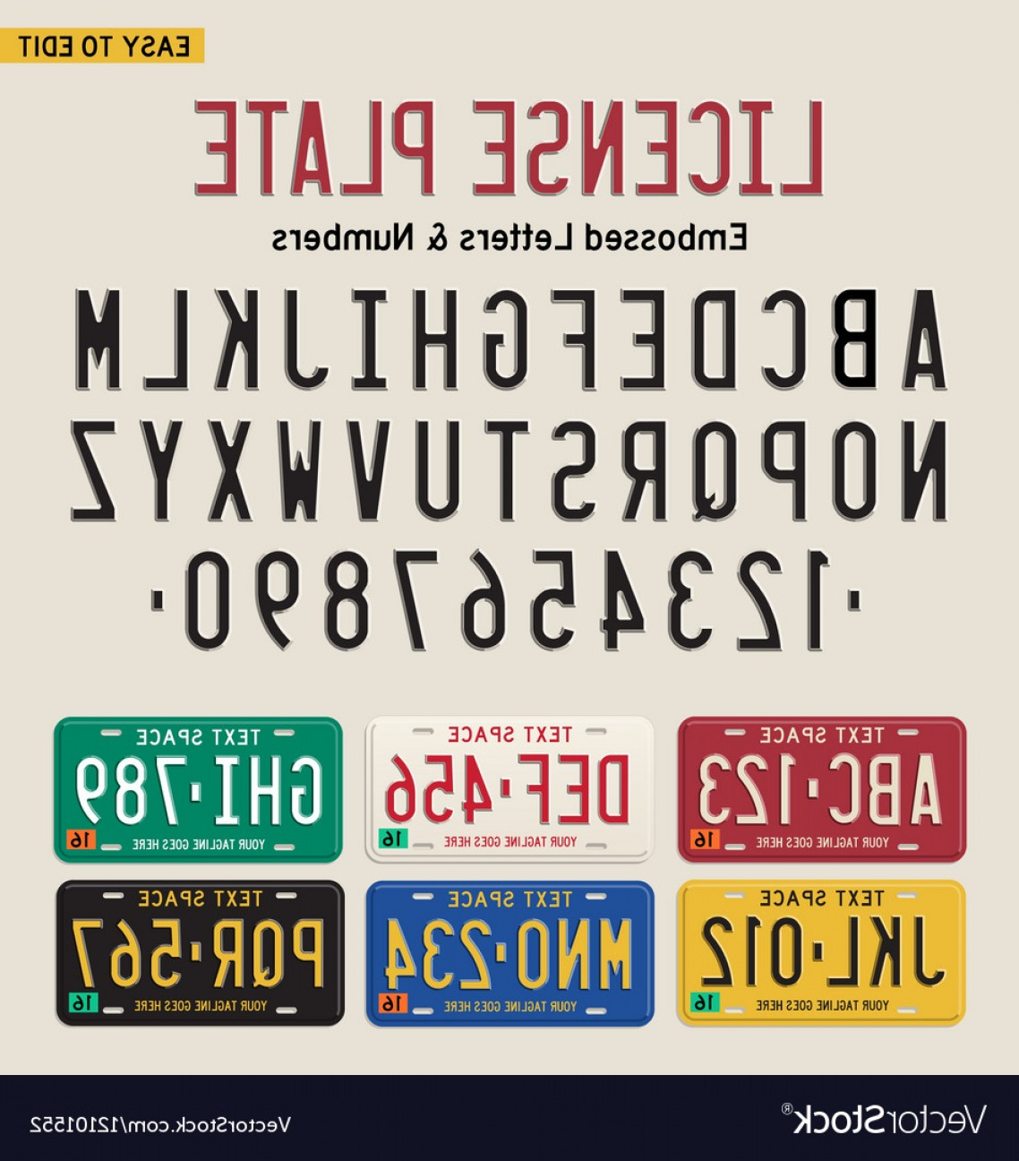 1138x1296 D License Plate Font And License Plate Set Vector Rongholland