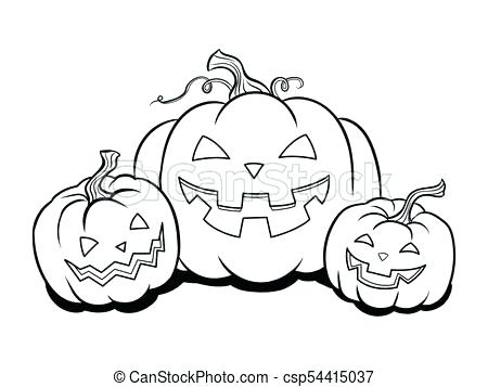 450x357 Coloring Book Pumpkin Black And White Cartoon Illustration Of Jack