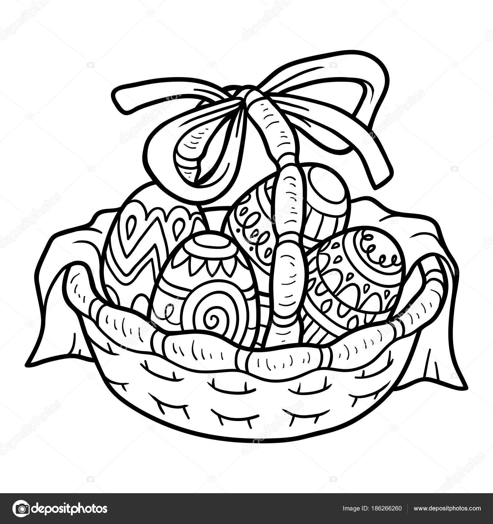 1600x1700 Coloring Easter Basket Best Coloring Book Easter Basket With