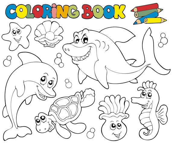 570x473 Coloring Book Vector