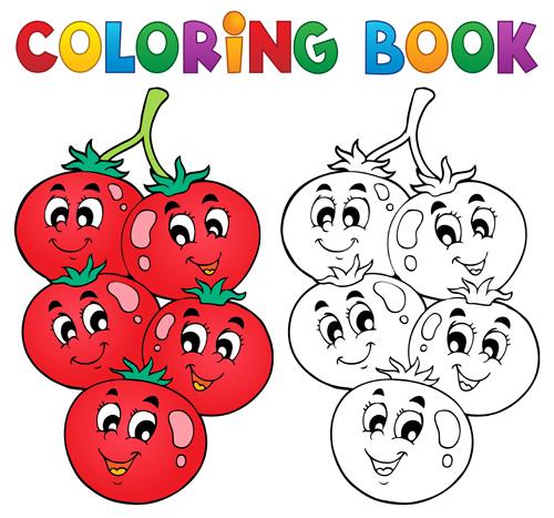 500x467 Coloring Book Vector Set 02 Free Download