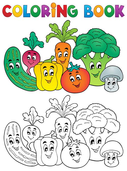 500x674 Coloring Book Vector Set 05 Free Download