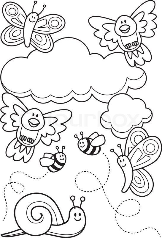546x800 Baby Animals Coloring Book Stock Vector Colourbox