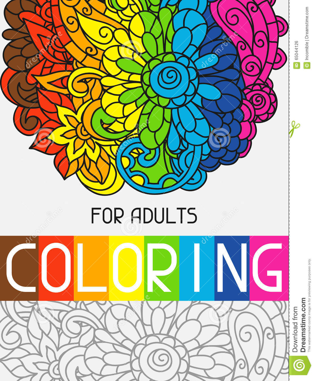 1075x1300 Coloring Book Cover Group With Items