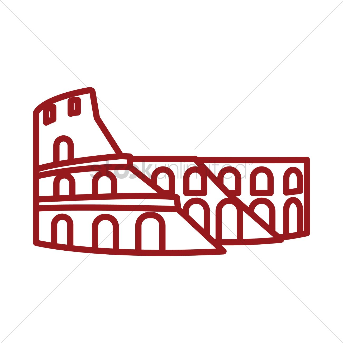 1300x1300 Colosseum Vector Image