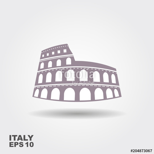 500x500 Colosseum Vector Icon Stock Image And Royalty Free Vector Files