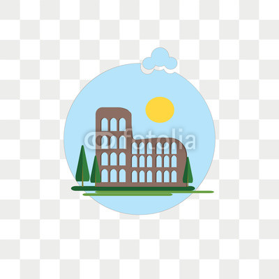 400x400 Colosseum Vector Icon Isolated On Transparent Background