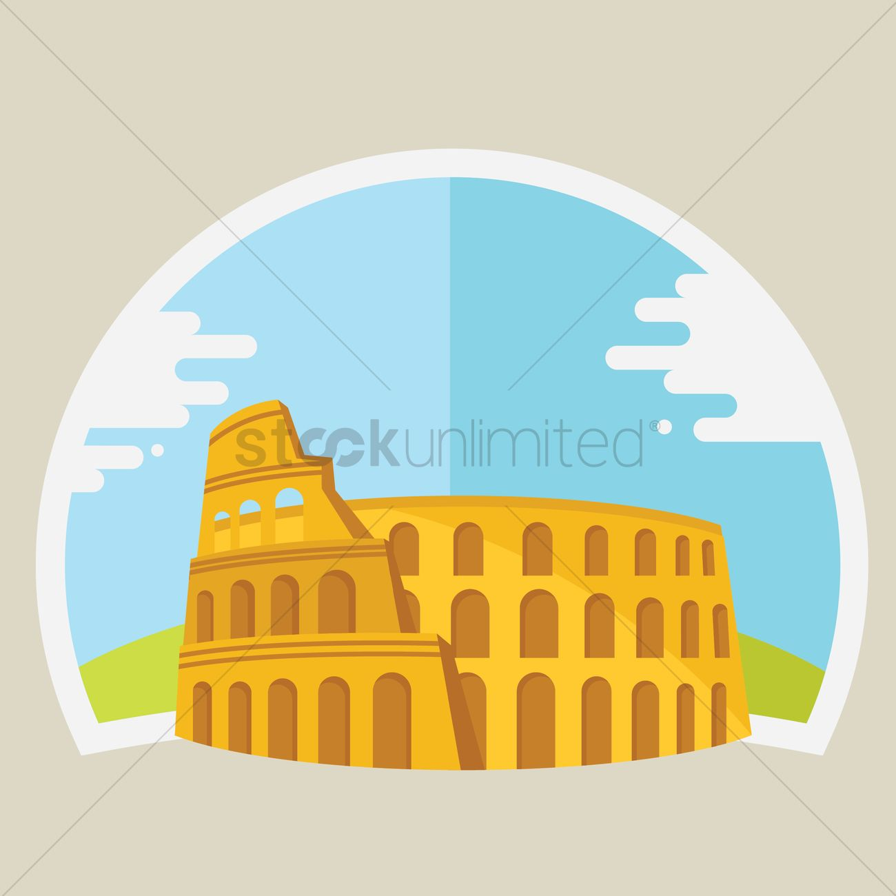 1300x1300 Free Colosseum Vector Image