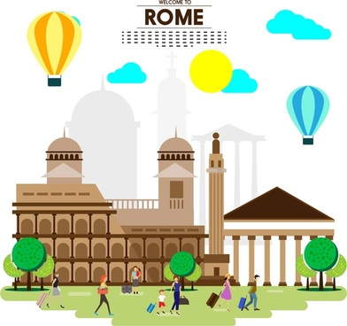 392x368 Rome Colosseum Vector Free Vector Download (26 Free Vector) For