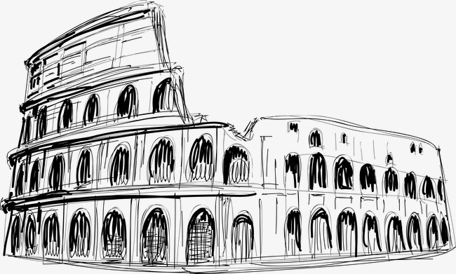 650x391 Vector Painted Colosseum, Vector, Hand Painted, Rome Png And
