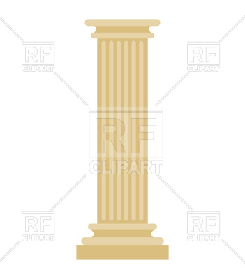 351x400 Greek Column Vector Image Vector Artwork Of Objects Maryvalery