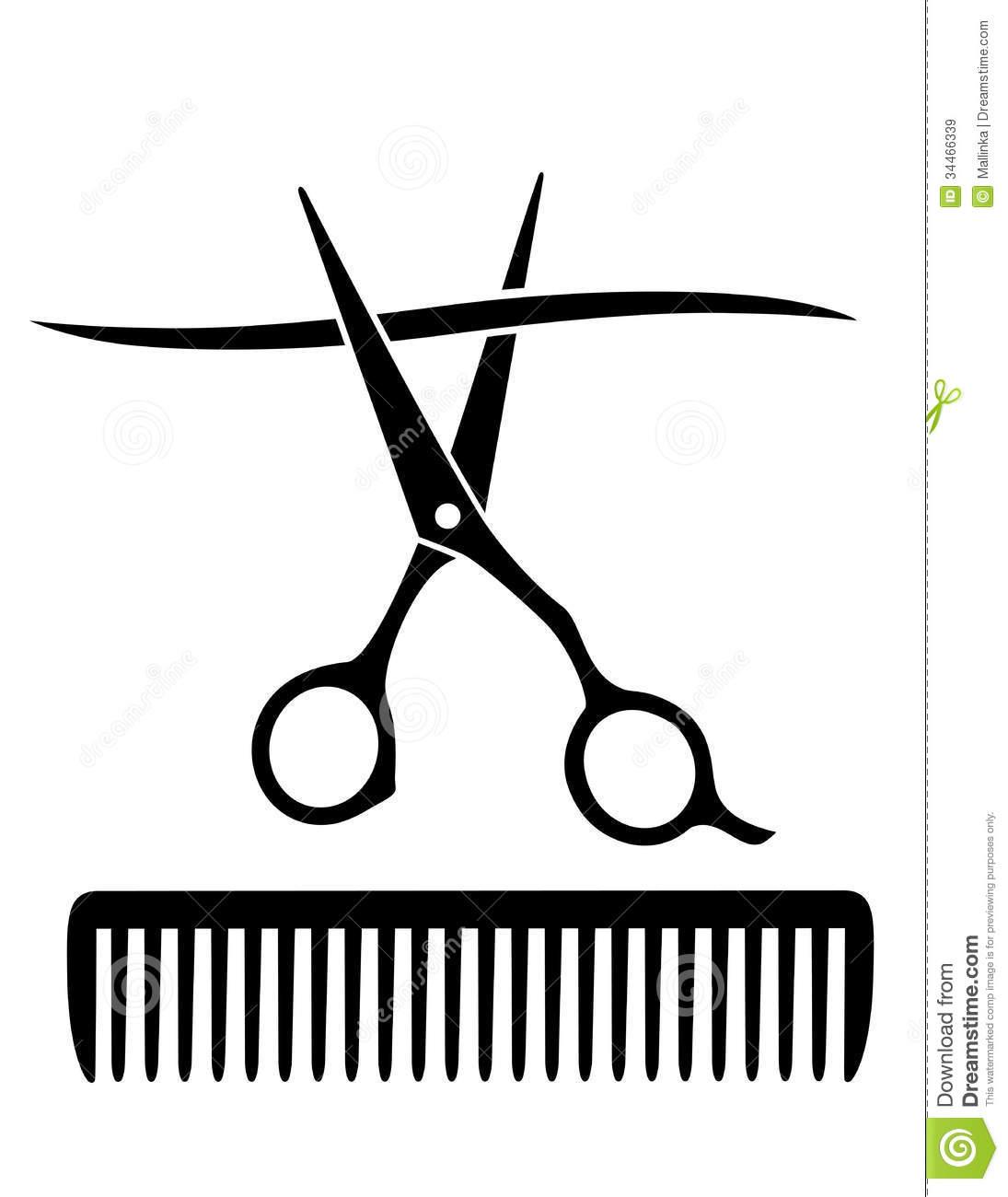 Comb And Scissors Vector