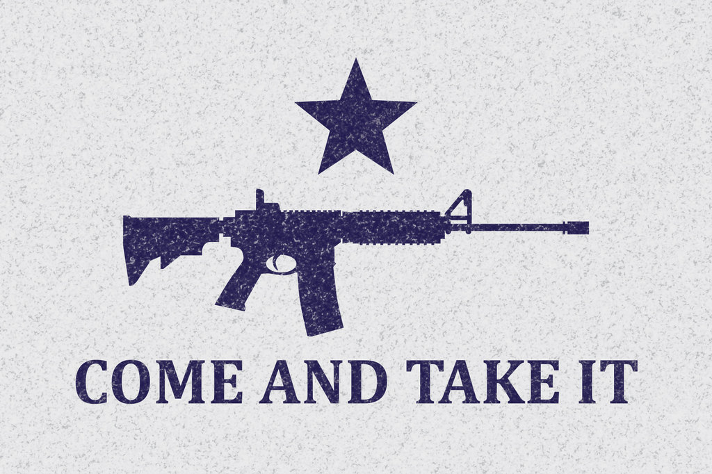 1024x682 Texas Come And Take It Flag Modified Ar 15 By Ashley3d