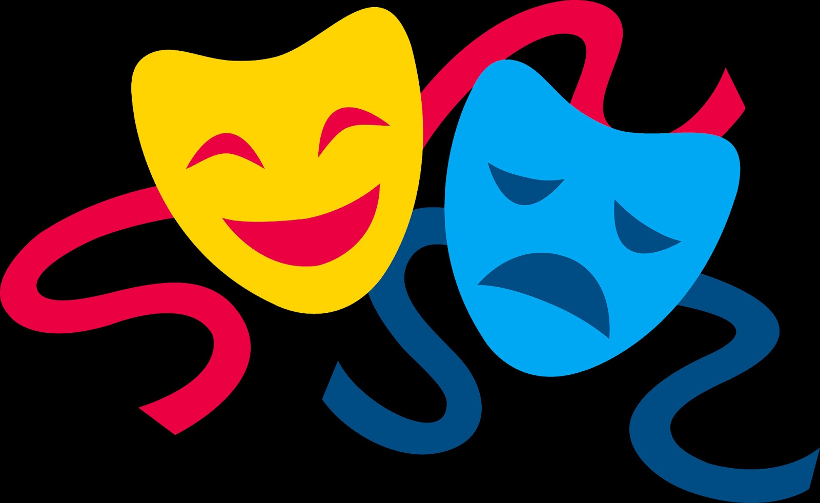 Comedy Tragedy Masks Vector