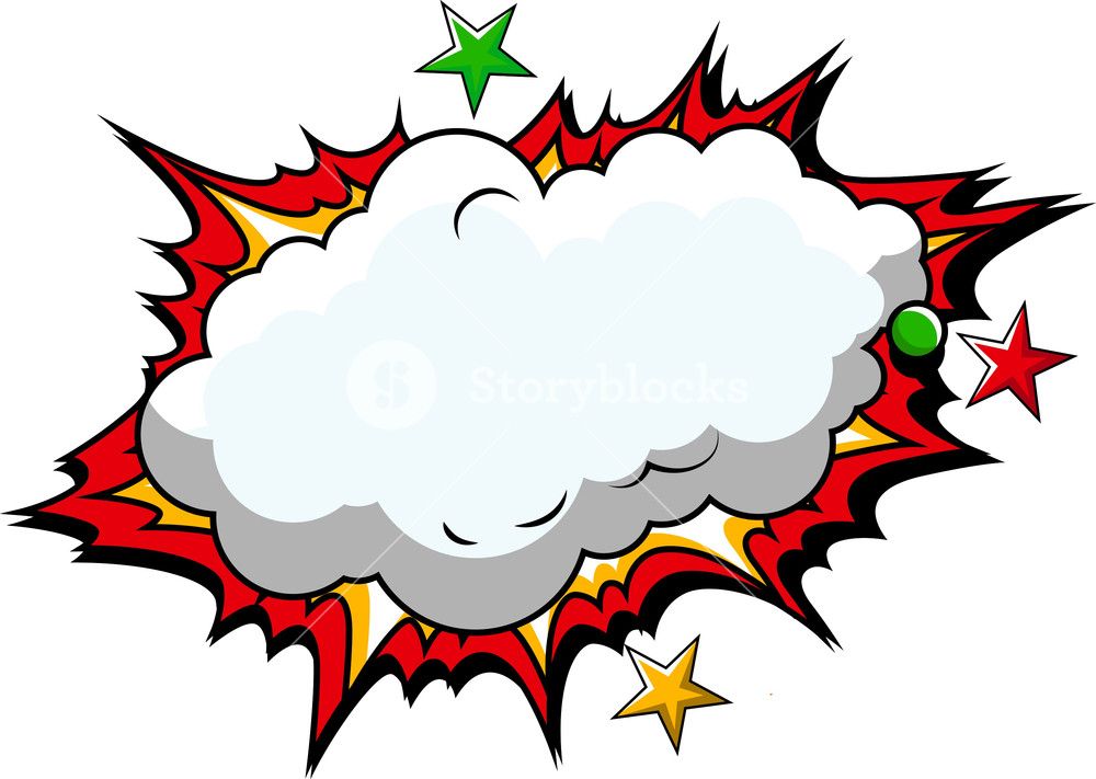 1000x711 Comic Cloud Background Vector Royalty Free Stock Image