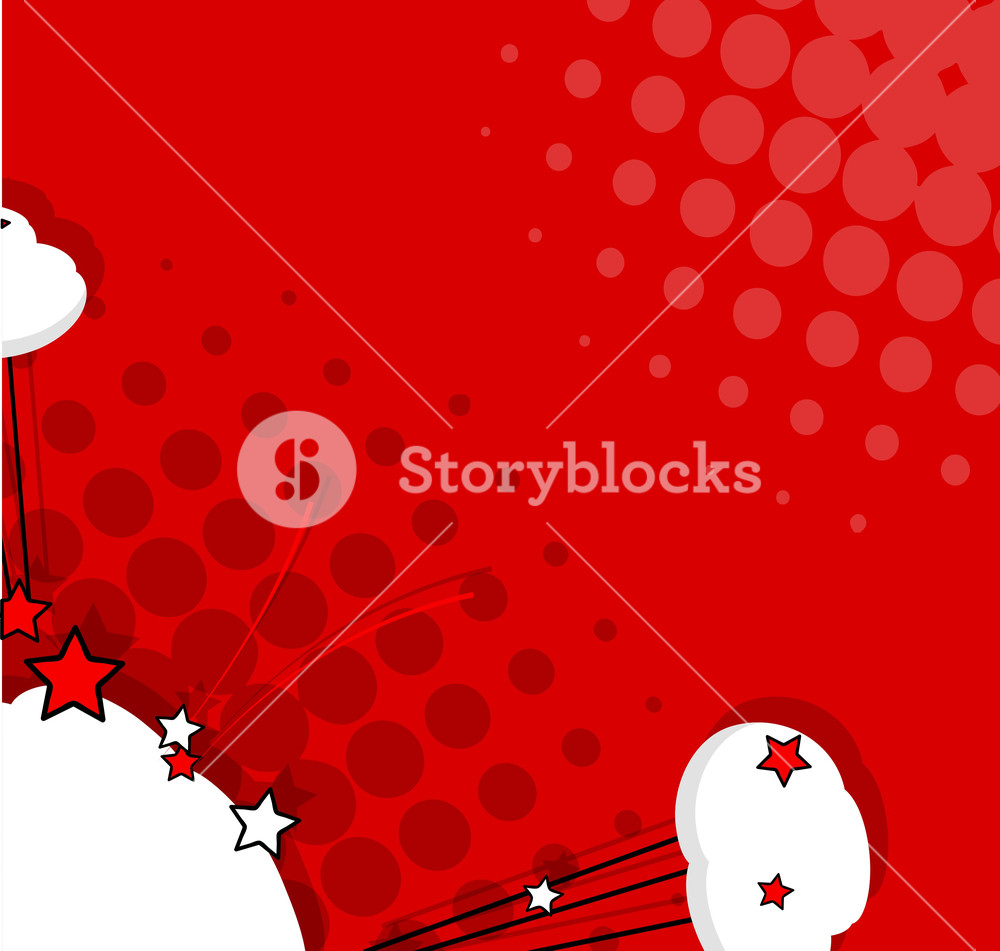 1000x951 Comic Clouds Stars Vector Background Royalty Free Stock Image