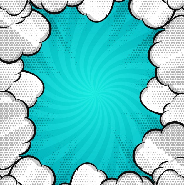 626x630 Modern Comic Background With Clouds Vector Free Download