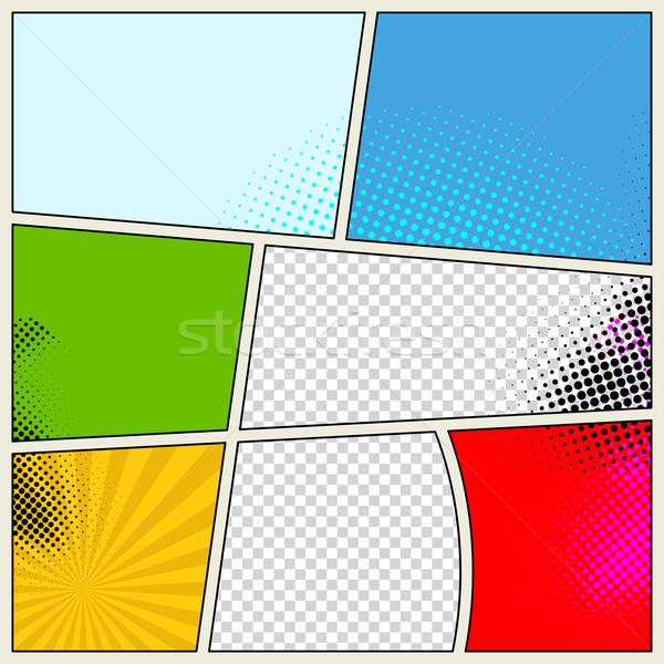 600x600 Retro Comic Book Vector Background Vector Illustration Liubomyr