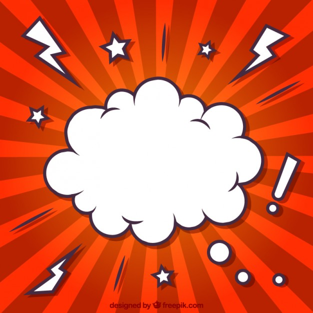 626x626 Cloud In Comic Style Vector Free Download