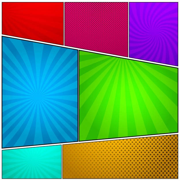 626x628 Colorful Comic Background Vector Free Download