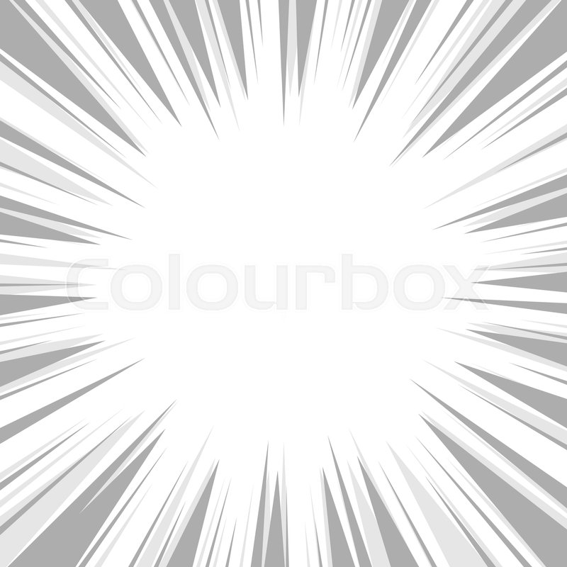 800x800 Comic Book Flash Explosion Radial Background. Vector Illustration