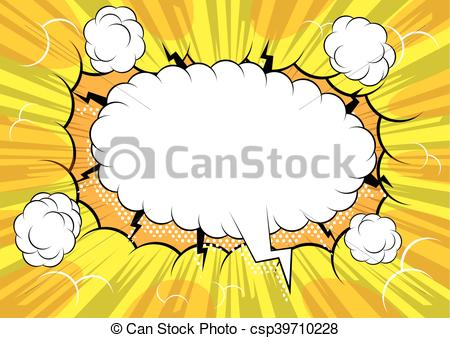 450x338 Comic Book Background With Blank Speech Bubble.