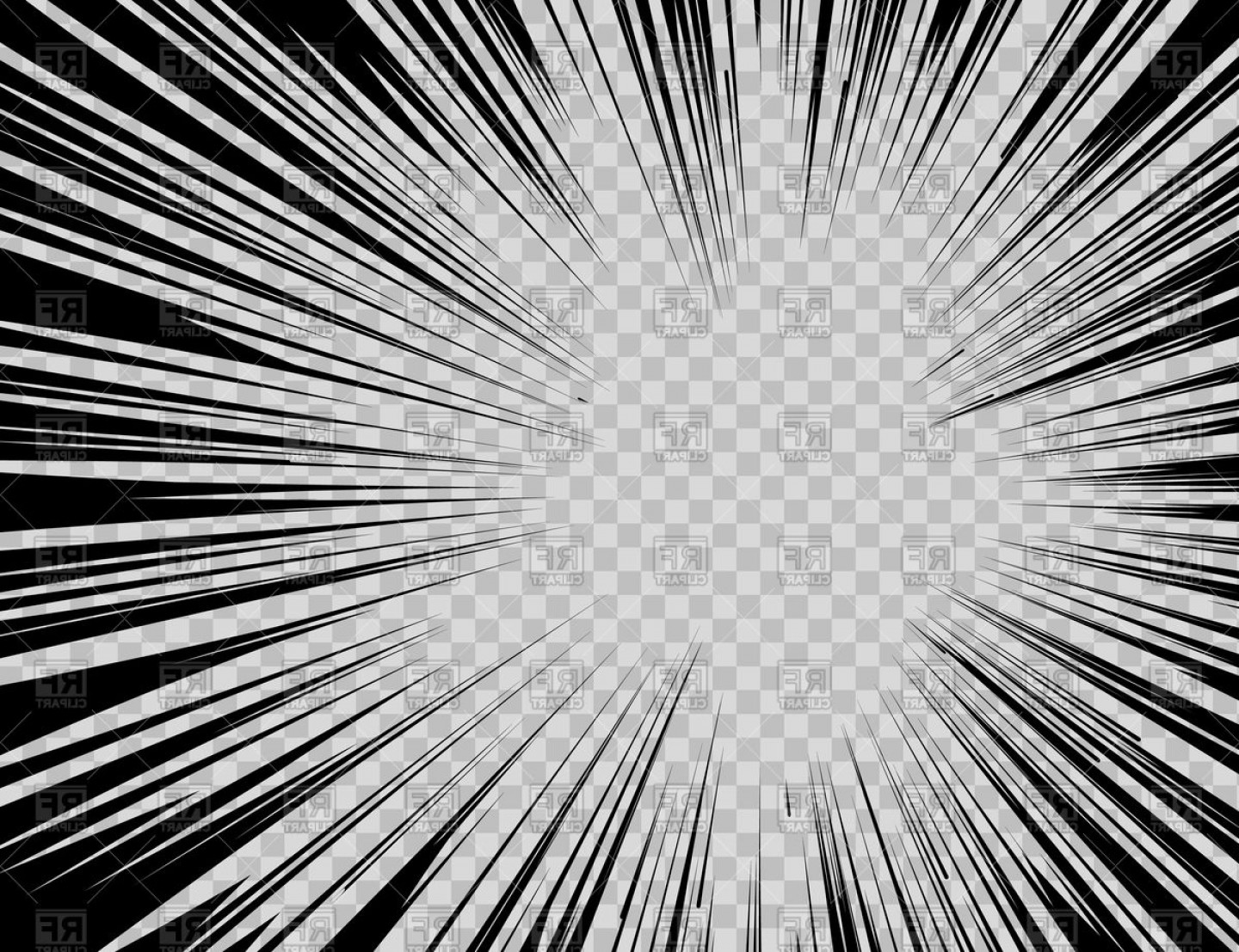 1440x1107 Abstract Comic Book Flash Explosion Radial Lines On Transparent
